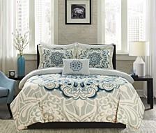 Palmer 8 Piece Queen Bed In a Bag Comforter Set