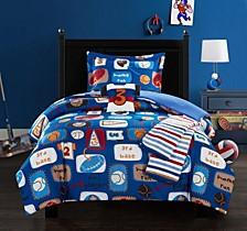 Sport Camp 4 Piece Twin Comforter Set