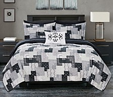 Eliana 8 Piece King Bed in a Bag Quilt Set