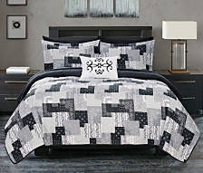 Chic Home Eliana 8 Piece King Bed in a Bag Quilt Set