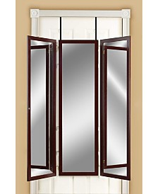Mirrotek Over The Door, Wall Mounted Triple View 3 Way Bedroom Dressing Mirror