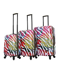 Halina Bee Sturgis Serengeti Reflections 3 Piece Hard Side Spinner Luggage Set