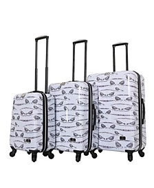 Valerie Valerie Aubergine 3-Pc. Hardside Spinner Luggage Set