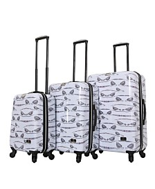 Halina Valerie Valerie Aubergine 3 Piece Hard Side Spinner Luggage Set