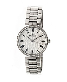 Catherine Automatic Silver Case, White Dial, Silver Stainless Steel Watch 36mm