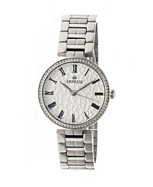 Empress Catherine Automatic Silver Case, White Dial, Silver Stainless Steel Watch 36mm