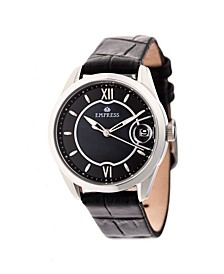 Messalina Automatic Black Leather Watch 34mm