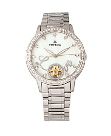 Empress Quinn Automatic Silver Stainless Steel Watch 41mm