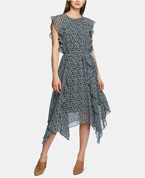 1.STATE Flounce Ruffle Cascading Dress