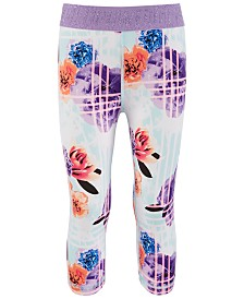 Ideology Little Girls Real Flower Printed Capri Leggings, Created for Macy's