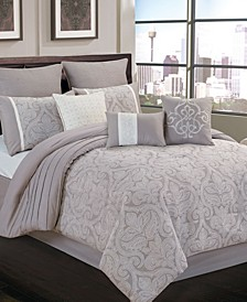 Winthrop 9 Pc Queen Comforter Set