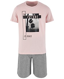 Ideology Big Boys Future Graphic T-Shirt & Sweat Shorts Separates, Created for Macy's