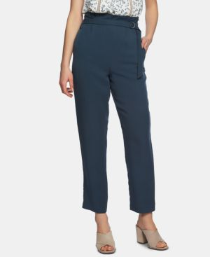 Image of 1.state Belted-Waist Tapered-Leg Ankle Pants