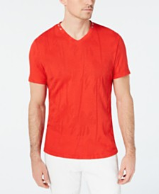 I.N.C. Men's Burnout Palm V-Neck T-Shirt, Created for Macy's