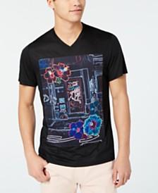 I.N.C. Men's Neon Lights T-Shirt, Created for Macy's