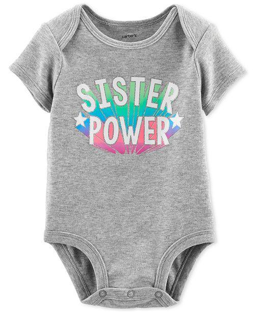 Carter's Baby Girls Cotton Graphic-Print Bodysuit