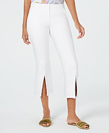 North Beach Slit-Hem Capri Pants