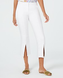 Trina Turk North Beach Slit-Hem Capri Pants