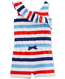 Carter's Toddler Girls Striped Cotton Romper