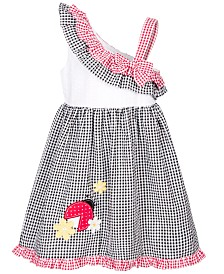 Good Lad Little Girls Ladybug Gingham Seersucker Dress