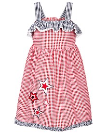 Little Girls Gingham Seersucker Star Dress