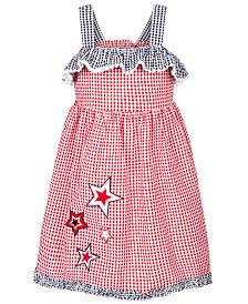 Good Lad Little Girls Gingham Seersucker Star Dress