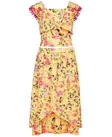 Big Girls 2-Pc. Floral-Print Dress