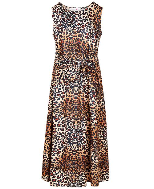 Beautees Big Girls Front-Tie Maxi Dress