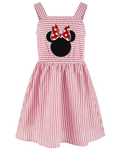 Disney Little Girls Minnie Mouse Seersucker Dress, Created for Macy's