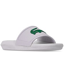 Lacoste Women's Croco Slide Sandals from Finish Line