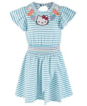 4df686bd96476 Hello Kitty Little Girls Striped Dress, Created for Macy's