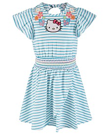 Hello Kitty Little Girls Striped Dress, Created for Macy's