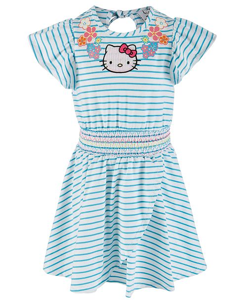 Hello Kitty Toddler Girls Striped Dress, Created for Macy's