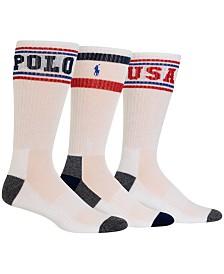 Polo Ralph Lauren Men's 3-Pk. Logo Crew Socks