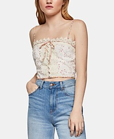 Lace-Trim Crop Top