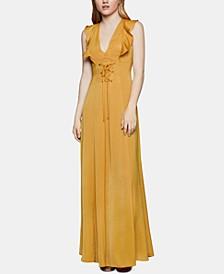 Corset-Front Maxi Dress