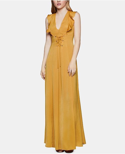 BCBGeneration Corset-Front Maxi Dress
