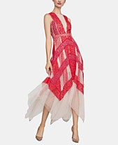 1a3357e3b3 BCBGMAXAZRIA Lace   Tulle Illusion Midi Dress