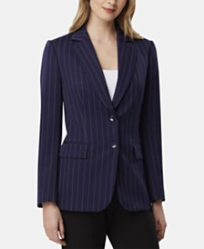 Tahari ASL Striped Blazer