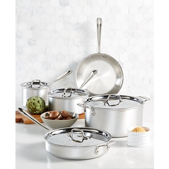 9-Piece All-Clad Master Chef Cookware Set