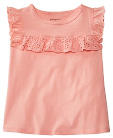 First Impressions Toddler Girls Eyelet Ruffle Top, Created for Macy's