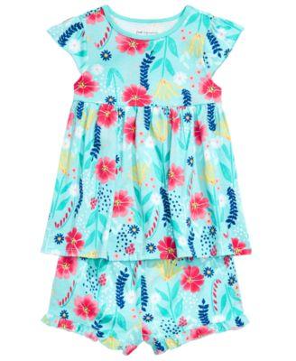 Baby Girls Wild Flower-Print Tunic, Created for Macy's