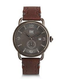 Mens' Weston Cognac Leather Strap Watch