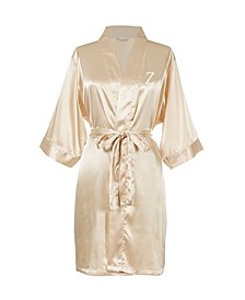 Personalized Luxury Gold Satin Robe (S-M)