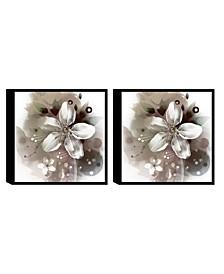 Decor Magnolia 2 Piece Framed Canvas Wall Art Floral Design