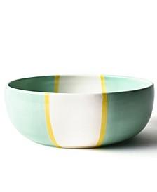 by Laura Johnson Mint Color Block Dog Bone Large Bowl