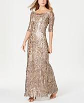 3539c4040281 Tadashi Shoji Embellished 3/4-Sleeve Gown