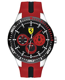 Men's RedRev Red Silicone Strap Watch 46mm