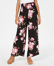 Juniors' Floral Wide-Leg Pants, Created for Macy's
