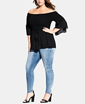 04bd3c73046b90 City Chic Trendy Plus Size Off-The-Shoulder Top
